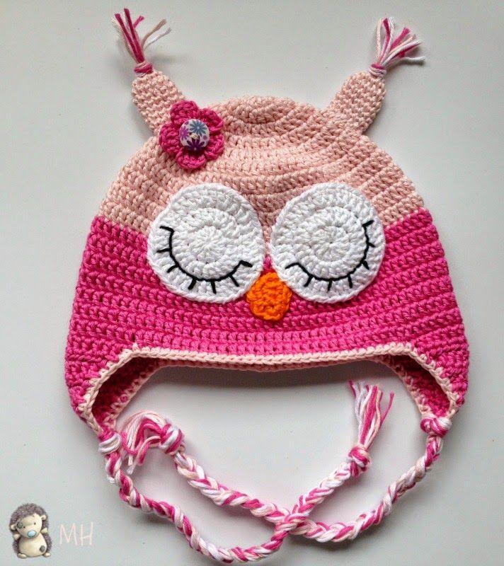 Gorro Búho a Crochet para niños de 2 años, Patrón Gratis ...