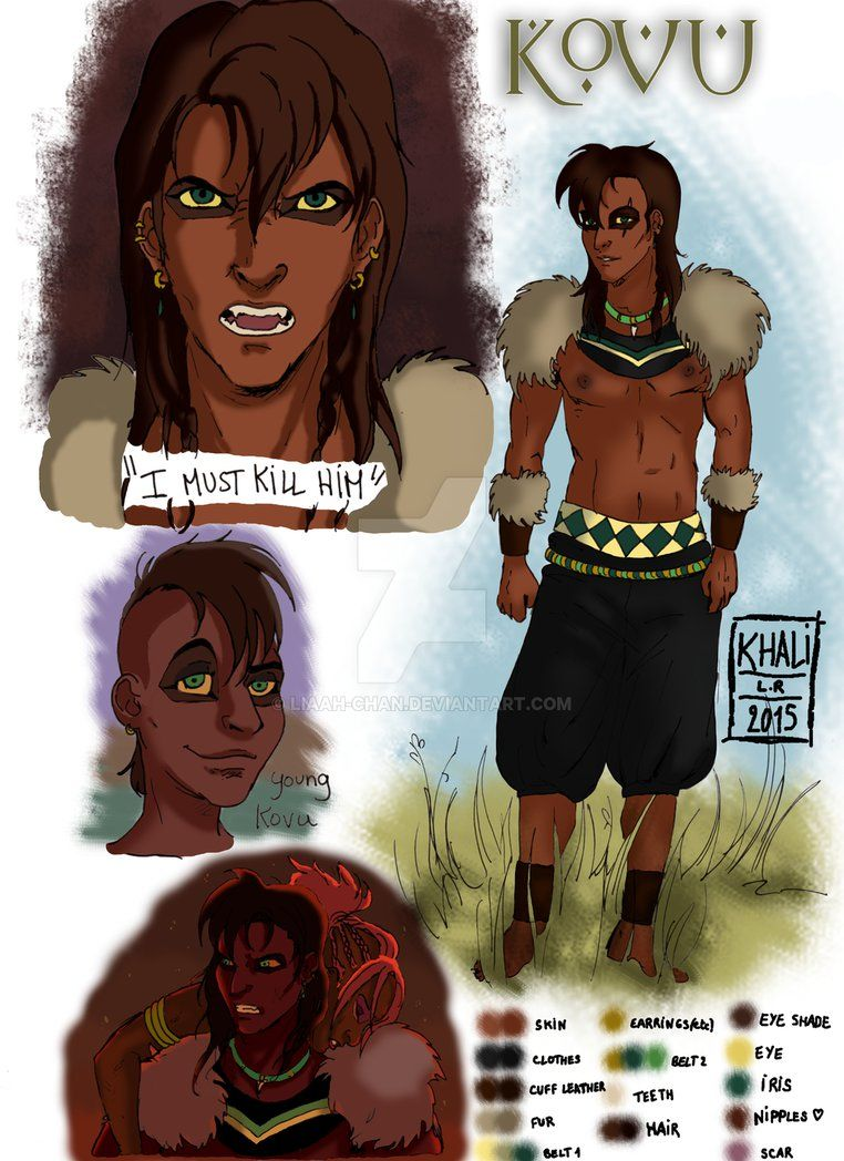 Human Kovu - character design - by Liaah-chan | Anime and ...