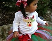 Lovely ladybug tutu and onesie..( free personalized) Also available pink. $39.50, via Etsy.