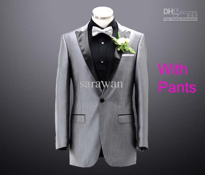 Wholesale Custom made men suit,silver jacquard mens wedding ...