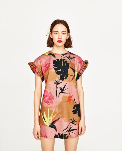 View Tropical Print Dress All WomanZara United Dresses Yy6gb7f