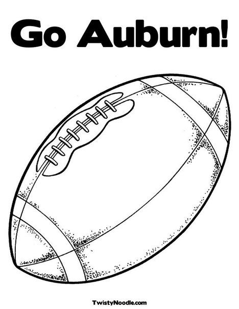 Auburn Coloring Pages Football Coloring Pages Football Clip Art Coloring Pages