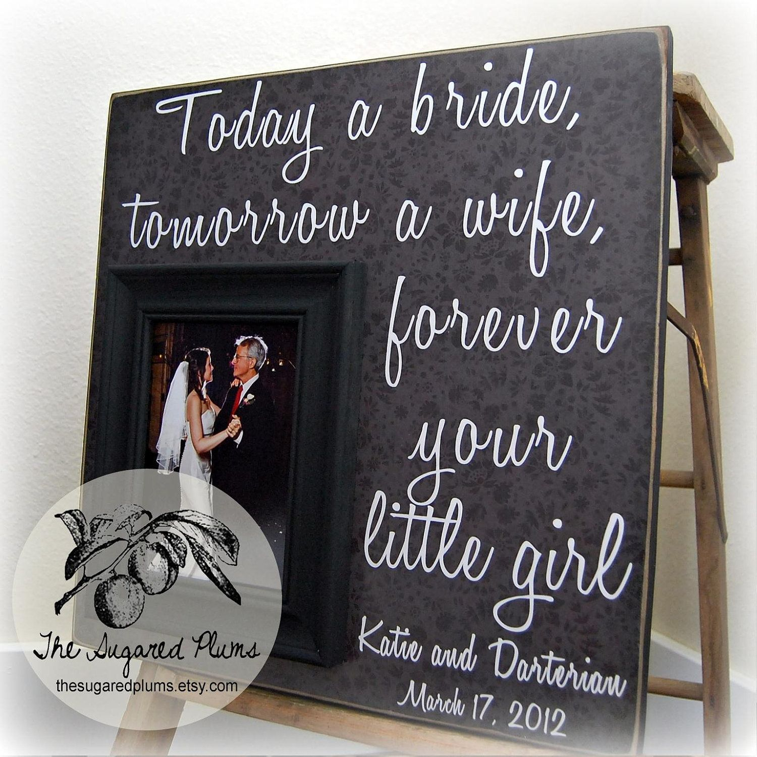 Father Of The Bride Gift Frame 16x16 Today A