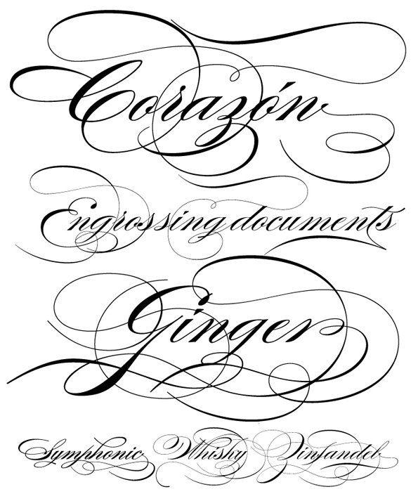 Fancy Script Tattoo Generator: Corazon-my Heart! Burgess Script Font