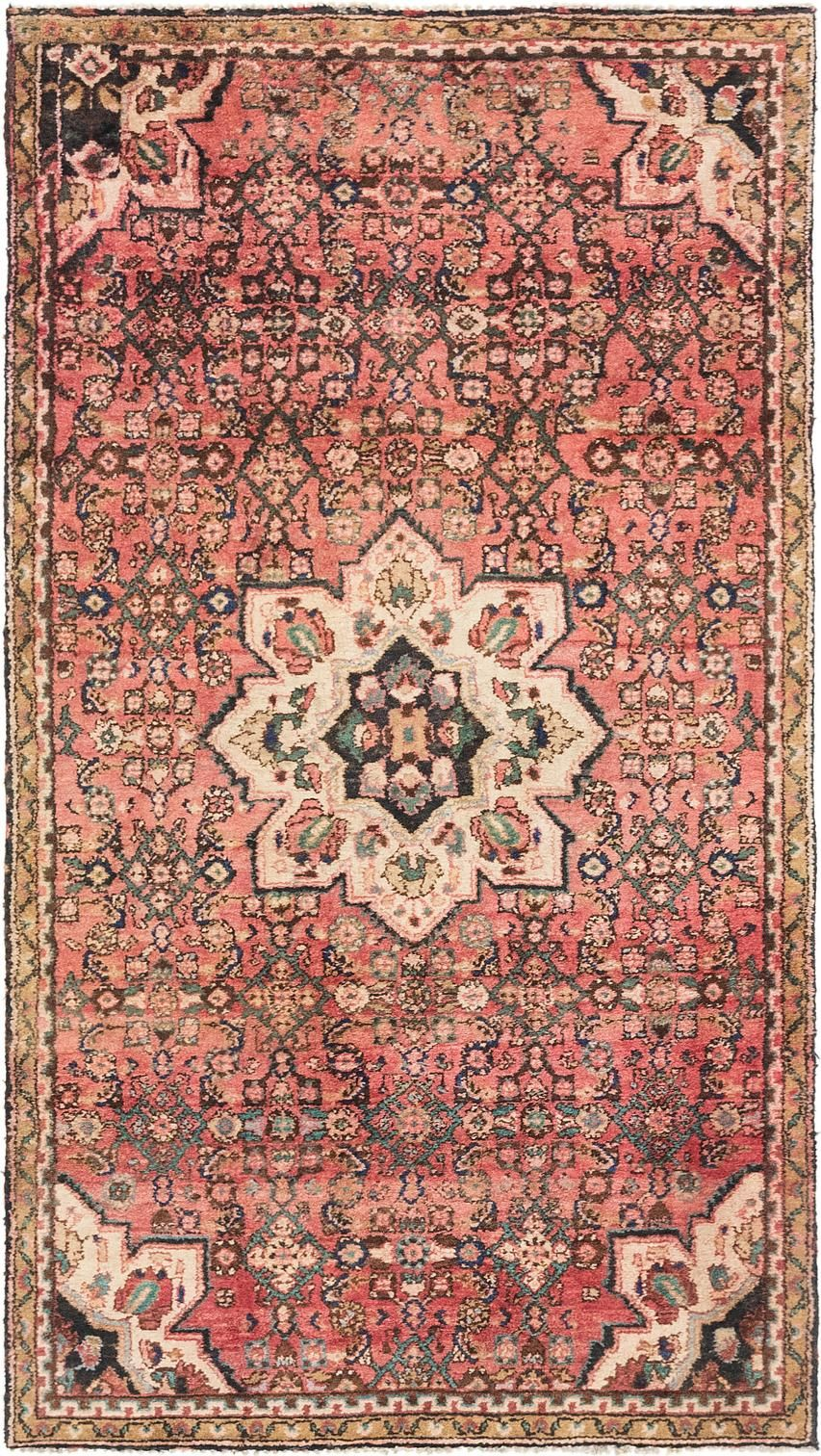 Rust Red 4 2 X 7 5 Hossainabad Persian Rug Rugs
