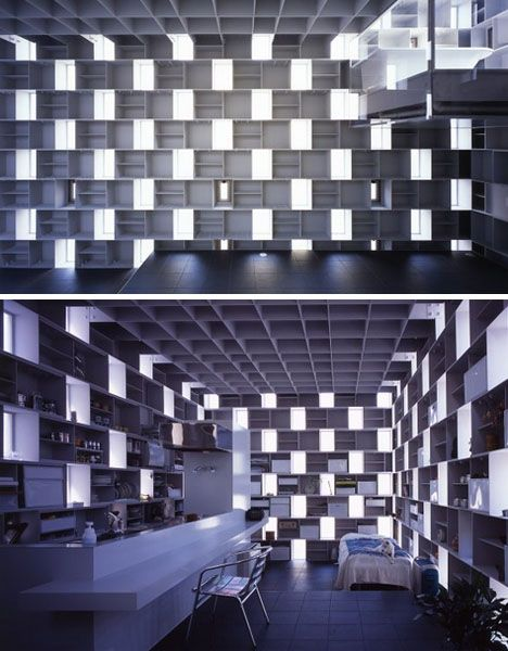 void masonry half transparent home built of light steel designs ideas on dornob architecture pinterest steel atelier and lights - Pixelated Interior Design