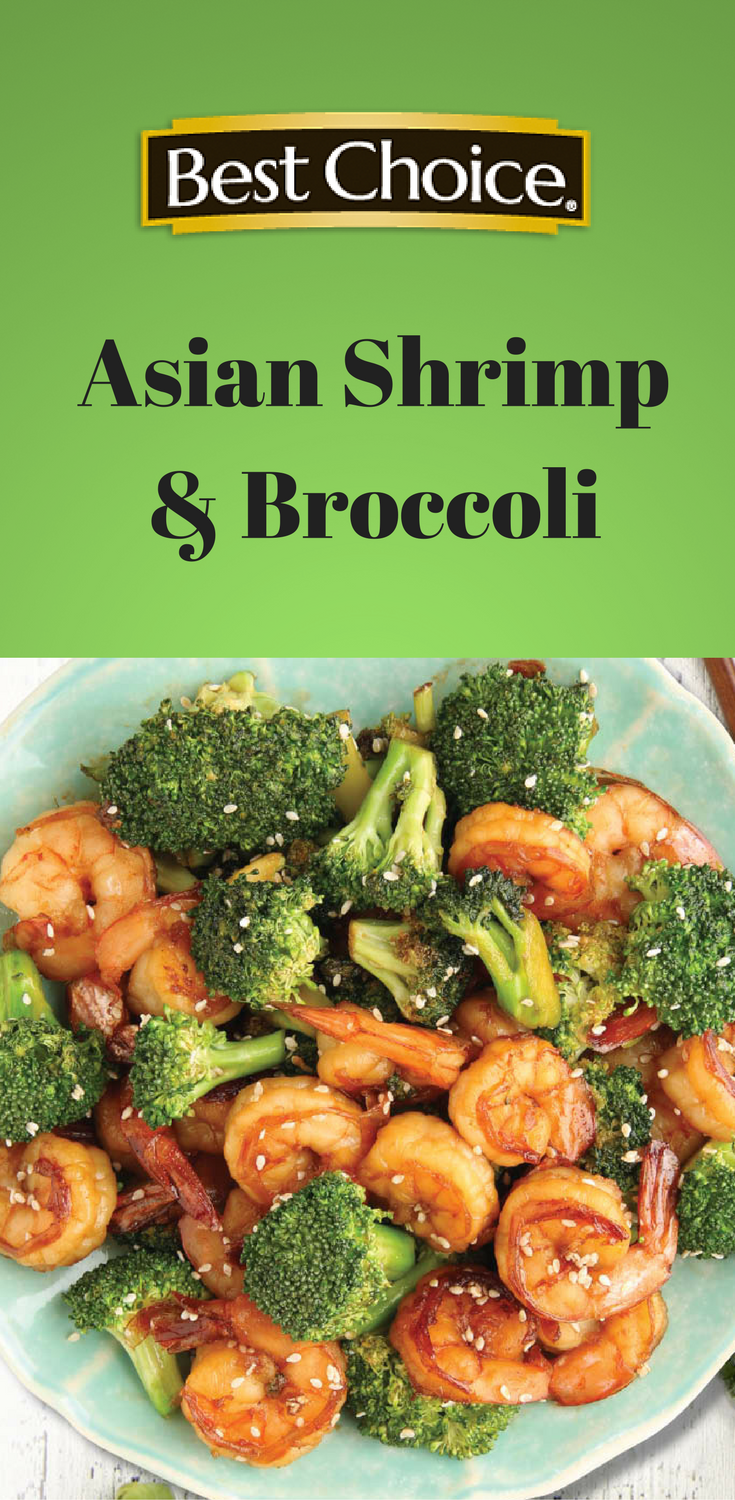 Skip the takeout and make this delicious Asian Shrimp & Broccoli at home! All the comfort of Chinese takeout, but healthier & cheaper. | Best Choice Brand