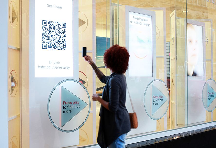 Hsbc Retail Interactive Touch Screen Window Display Using Qr Codes