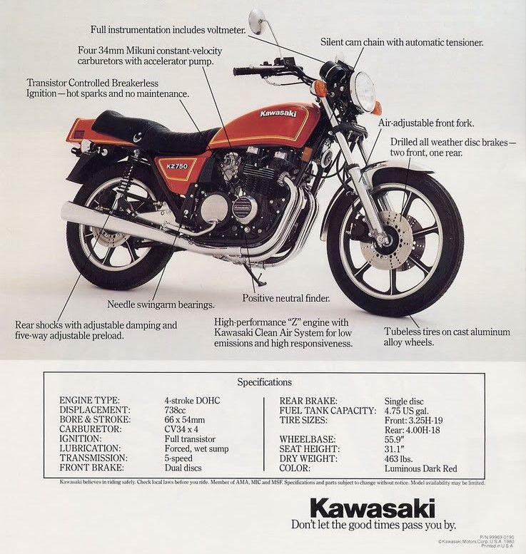 Kawasaki KZ 750 | Retro/Vintage/Classic MOTO Advertising #1