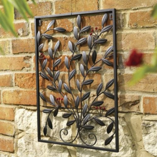 Outdoor Metal Wall Art Metal Garden Wall Art Trellis Black