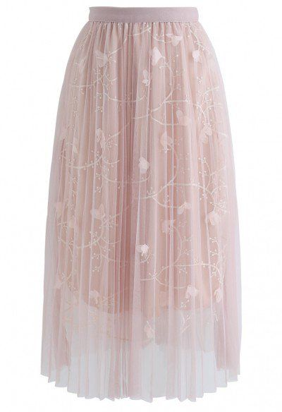 My Secret Weapon Tulle Maxi Skirt in Glitter Pink - Skirt - BOTTOMS - Retro, Indie and Unique Fashion