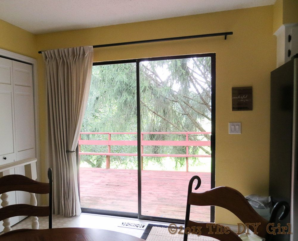 Patio door curtains diy - A Curtain Rod Strong Enough That It Doesn T Need A Center Support Good Idea For Sliding Glass Doors