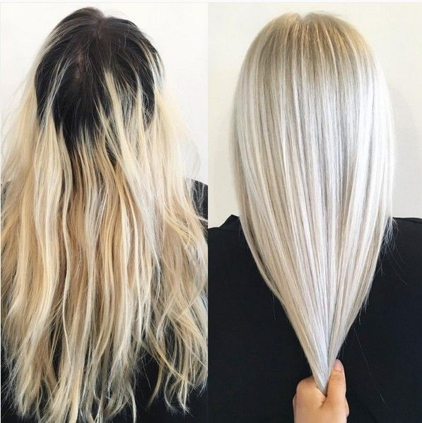 20 Haarfarbe Idee: Platinum Horned Hair #platinumblondehighlights