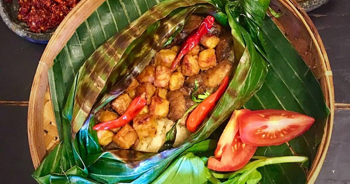 Resep Nasi Bakar Liwet Jamur Tempeh Vegetarian Oleh Wiryn Yanti Wiryn Resep Resep Vegetarian Tempe Makanan Vegetarian