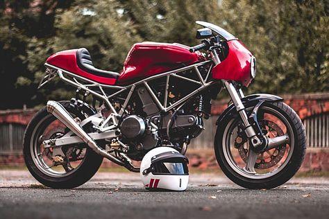 Red Hot Kaspeed Moto S Beautiful Ducati 750ss Cafe Racer Ducati