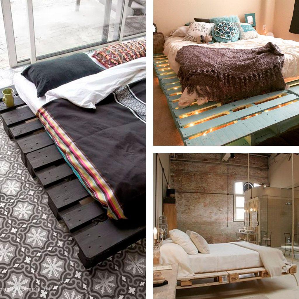 Camas con palets camas de palets pinterest - Camas con palets ...