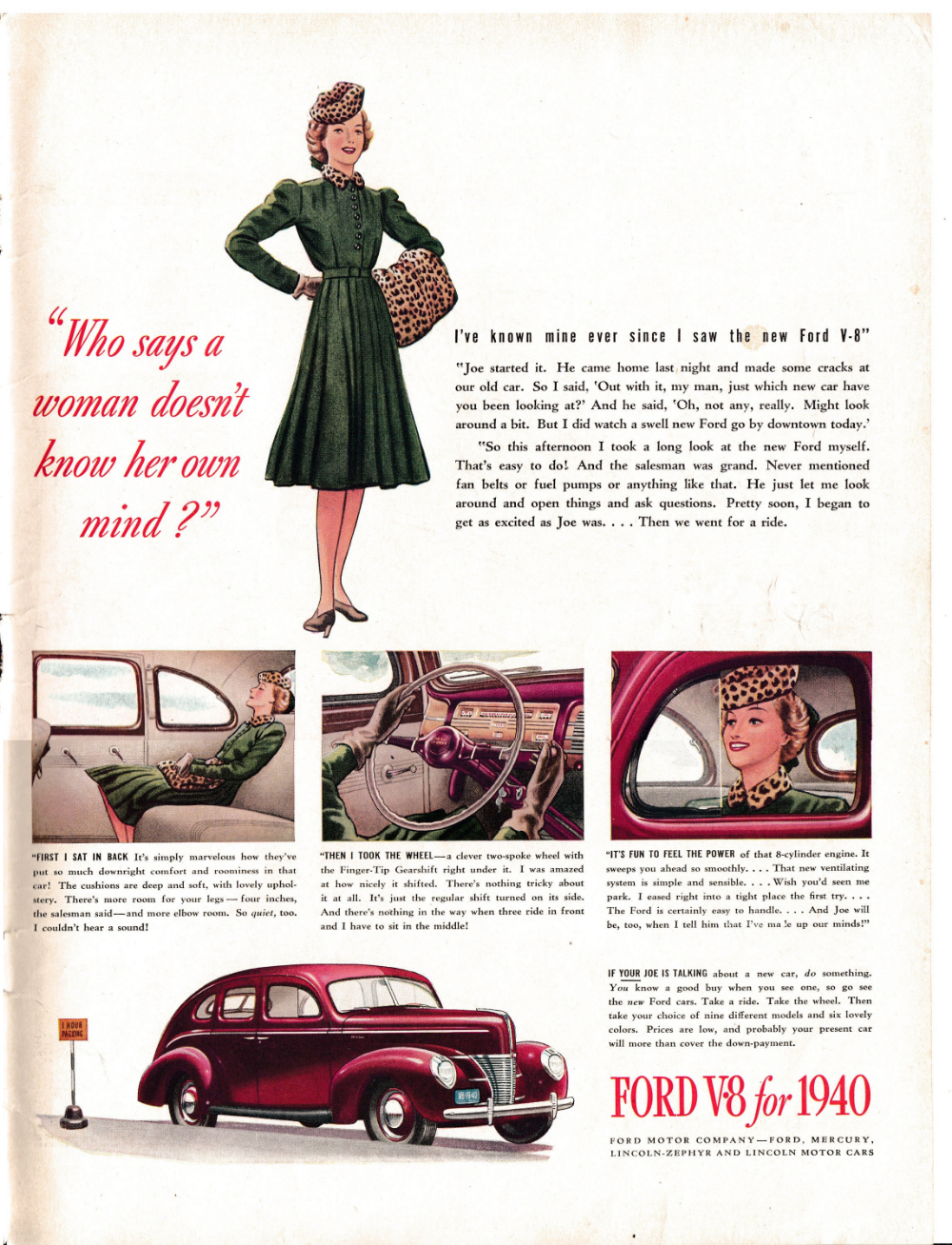 1940 Ford V 8 4 Door A Woman S Point Of View Original Etsy 1940 Ford Ford Ford Motor Company