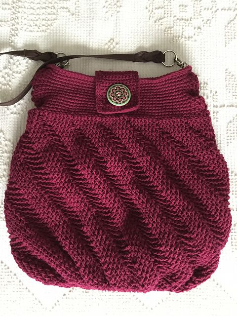 Ravelry: Waterfall Handbag pattern by Merri Purdy