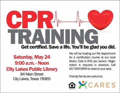 Cpr Certification Course Cpr Training Cpr Flyer Template