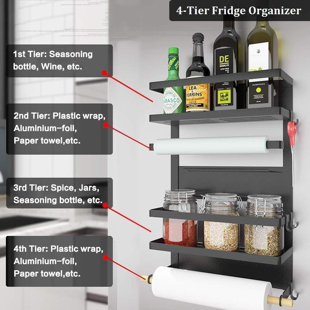 Multipurpose 4 Tier Fridge Shelf TinnyMart (With