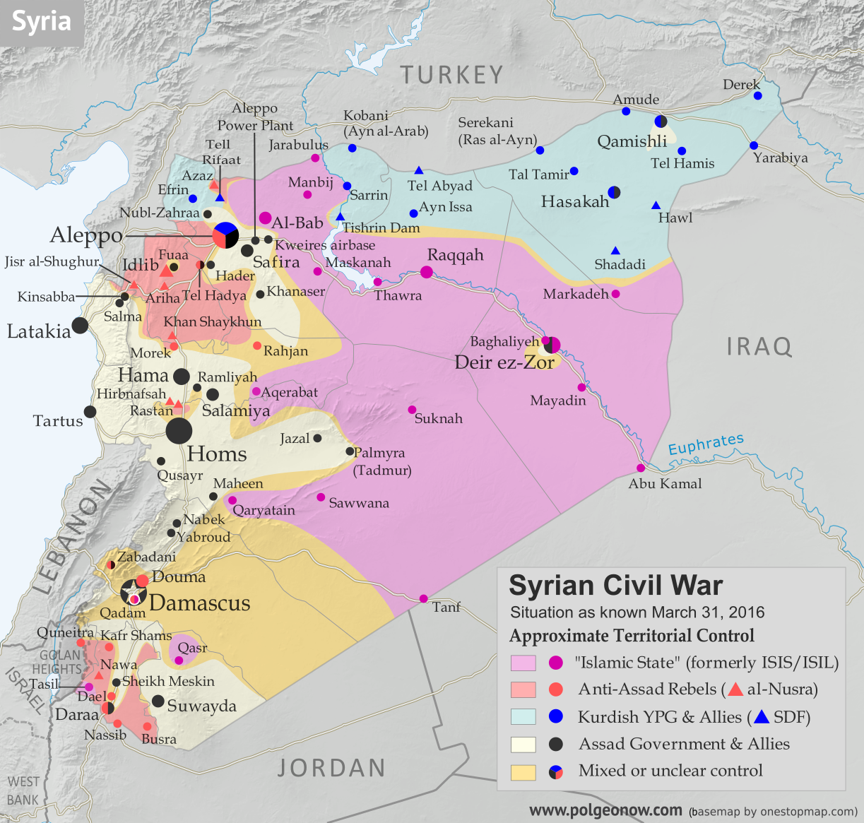 Map of fighting and territorial control in syrias civil war march map of fighting and territorial control in syrias civil war gumiabroncs Images