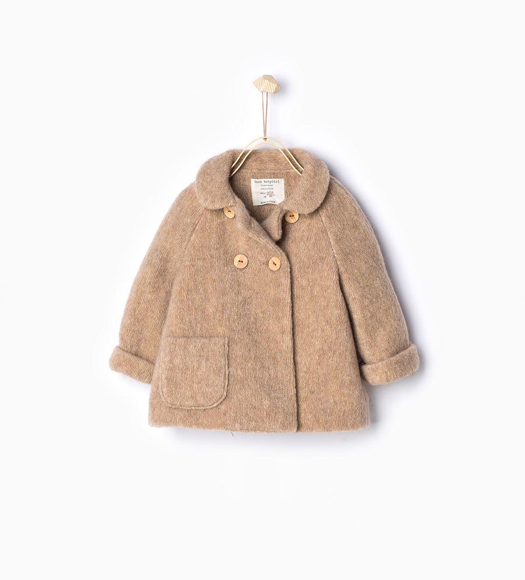 d1b3d7f20 ZARA - KIDS - Knit double breasted three quarter length coat ...