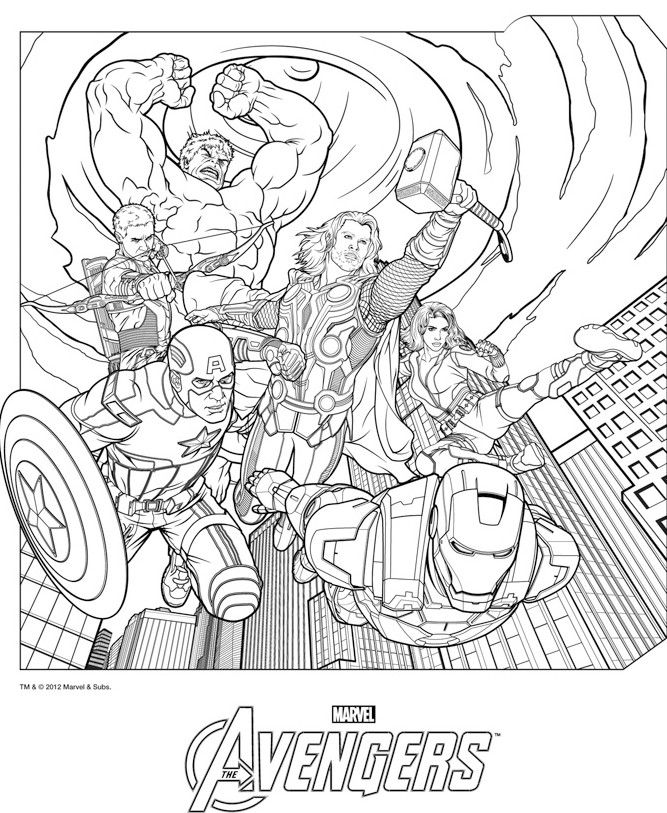 Coloriage Les Avengers Coloring Avengers Coloring Pages