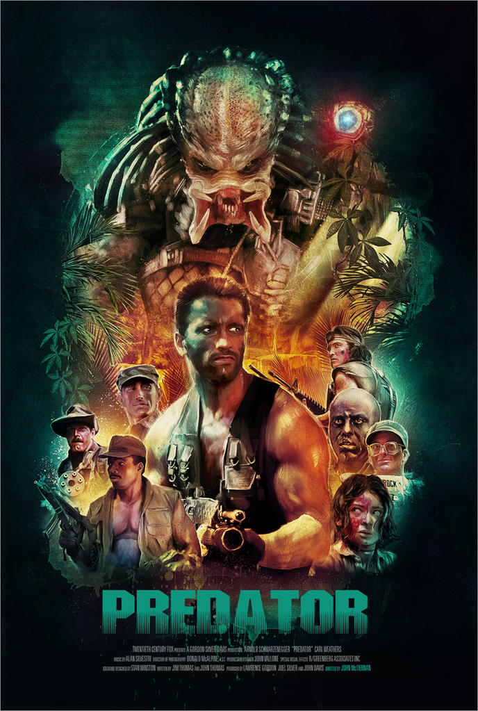 Canvas Pictures The Predator Top Alien Classic 2018 Movie Art Large Poster