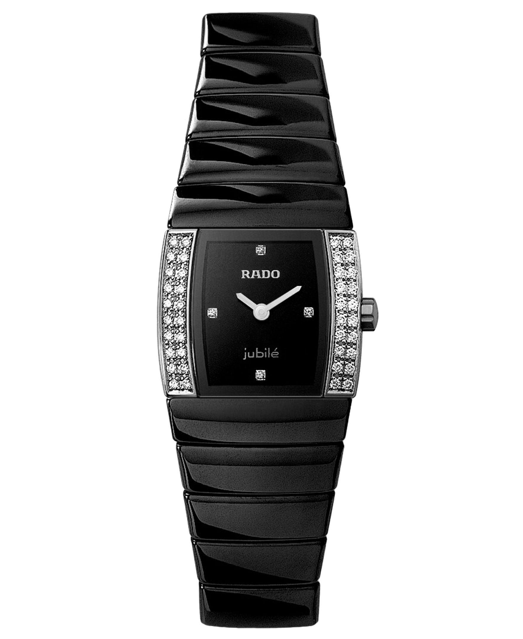 Rado Watch Women S Sintra Jubile Black Bracelet R13618712 Womens Watches Rado Watches Women Stylish Watches
