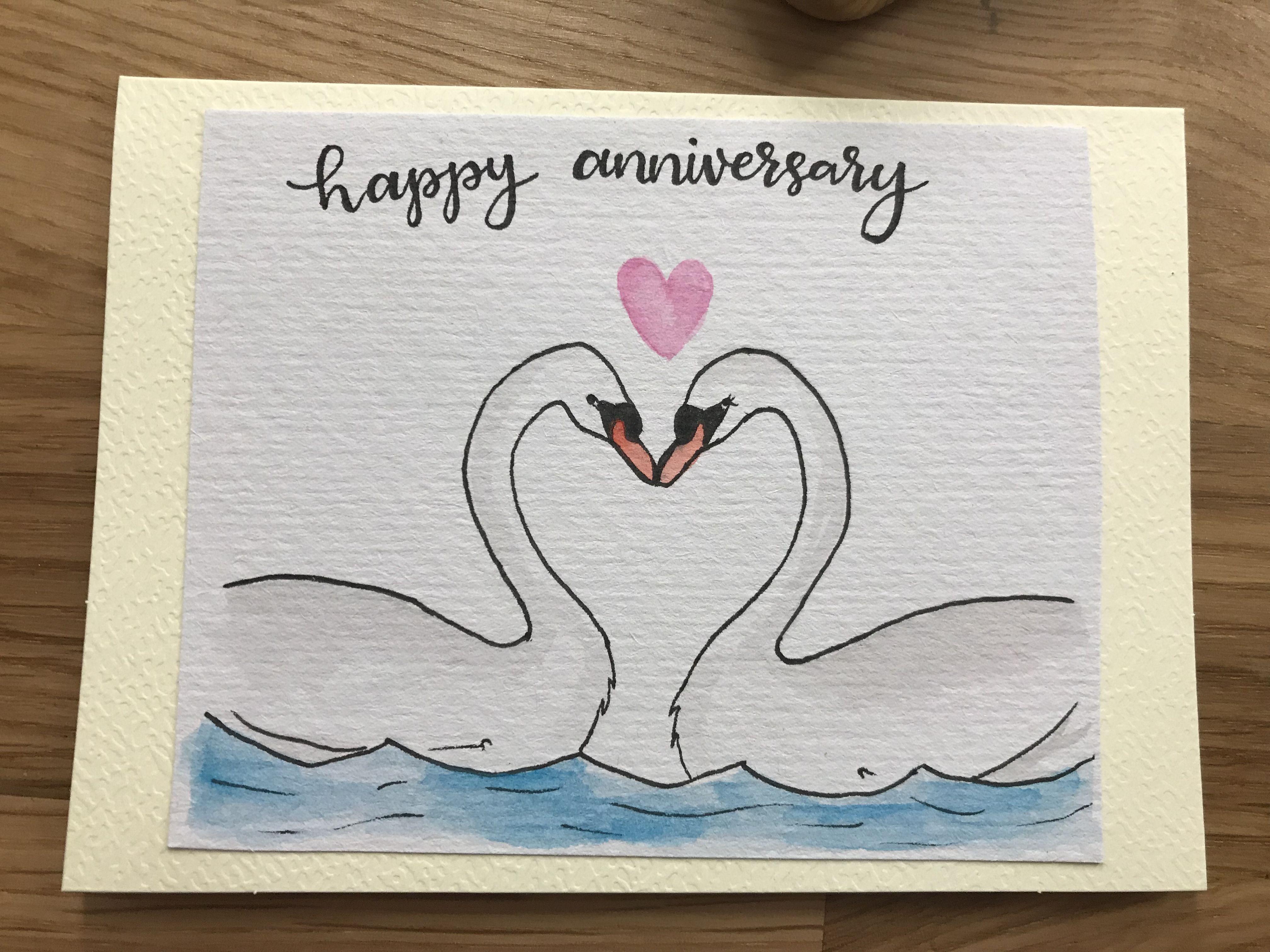 Anniversary Card Anniversary Cards Handmade Watercolor Anniversary Card Watercolor Birthday Cards
