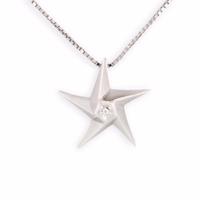 Daou Jewellery 18kt Gold & Diamond Little Star Pendant QNe14