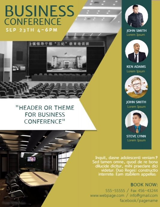 Business Conference Flyer Template  Postermywall  Business