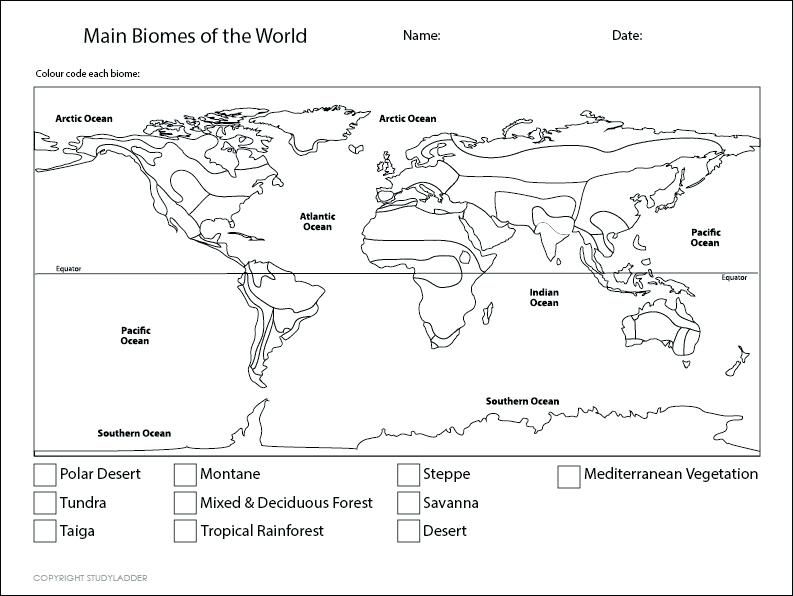 Biome Map Coloring Worksheet biome map coloring worksheet
