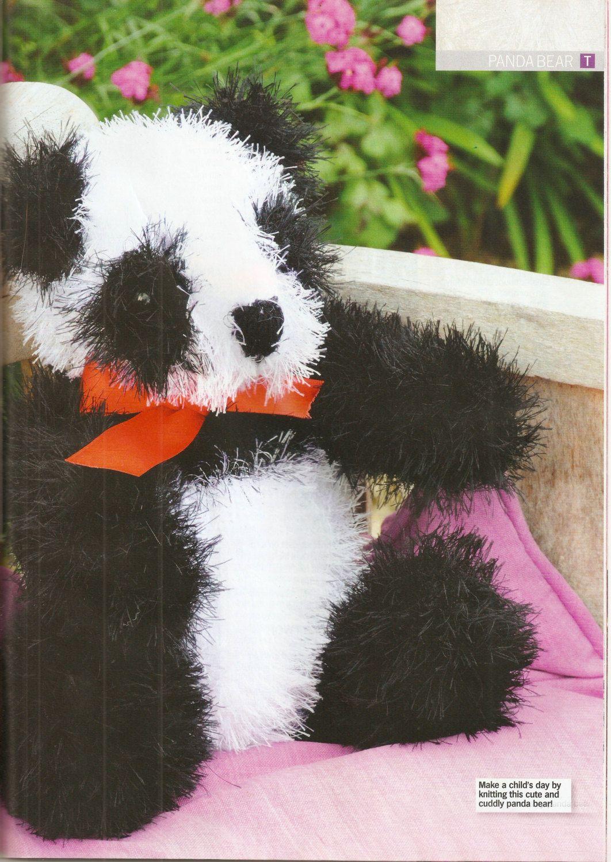 Panda bear knitting pattern. by VBlittlecraftshop on Etsy   toys ...