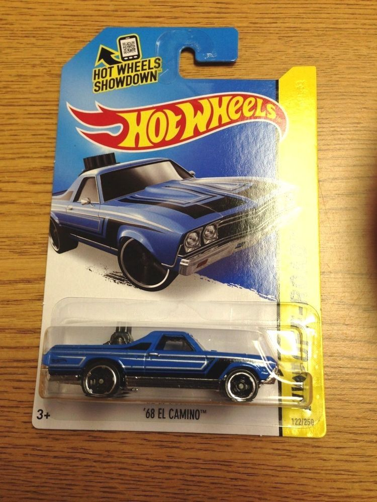 68 El Camino Blue 122 2015 Hot Wheels New Release Case B