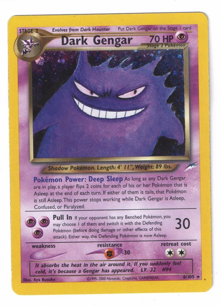 Details about Dark Gengar 6/105 Neo Destiny Rare Holo Pokemon card