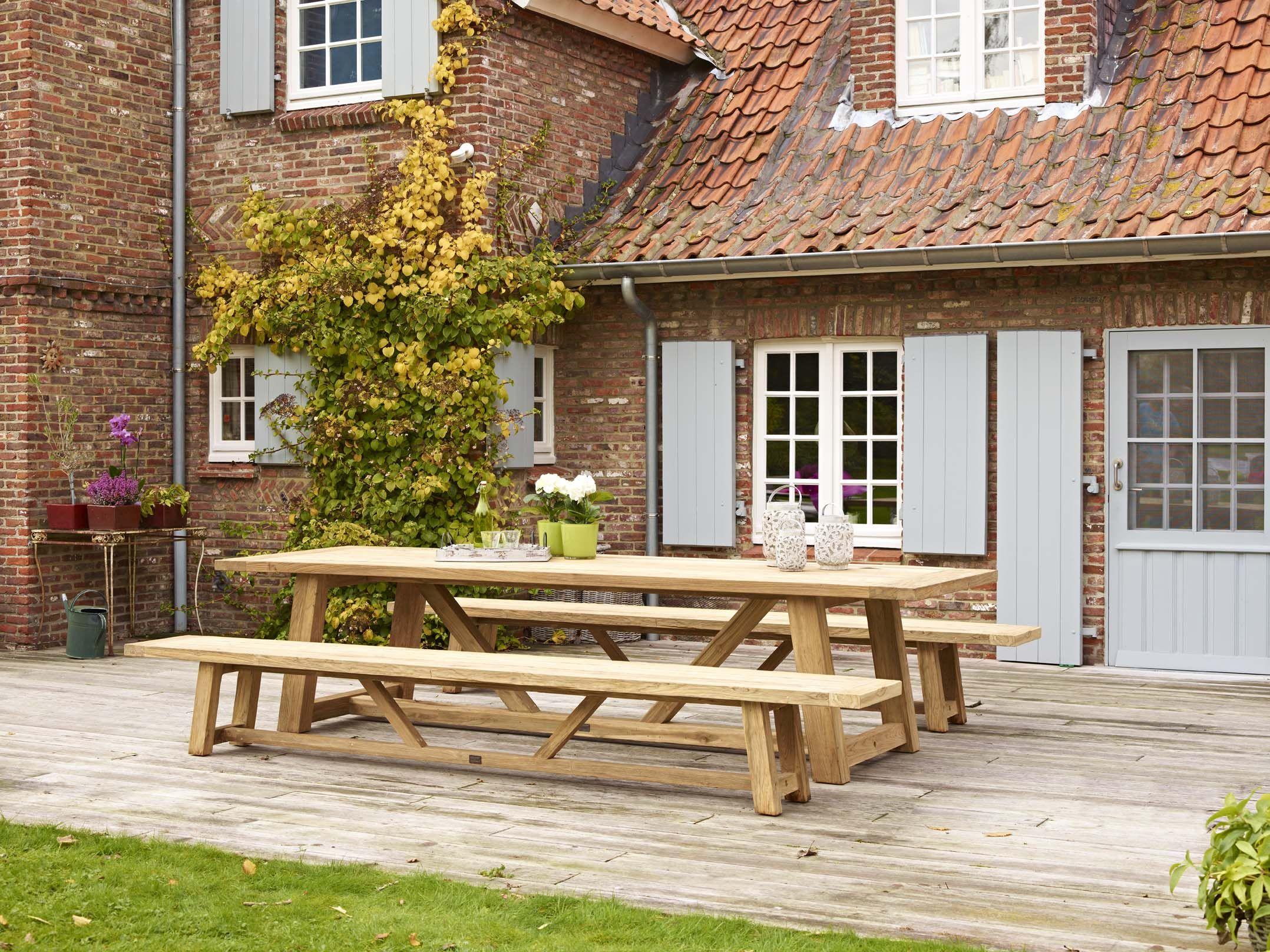Gerecycleerde teak tafels Bristol Garden tuinmeubelen   Overstock   @Home   Pinterest   Bristol