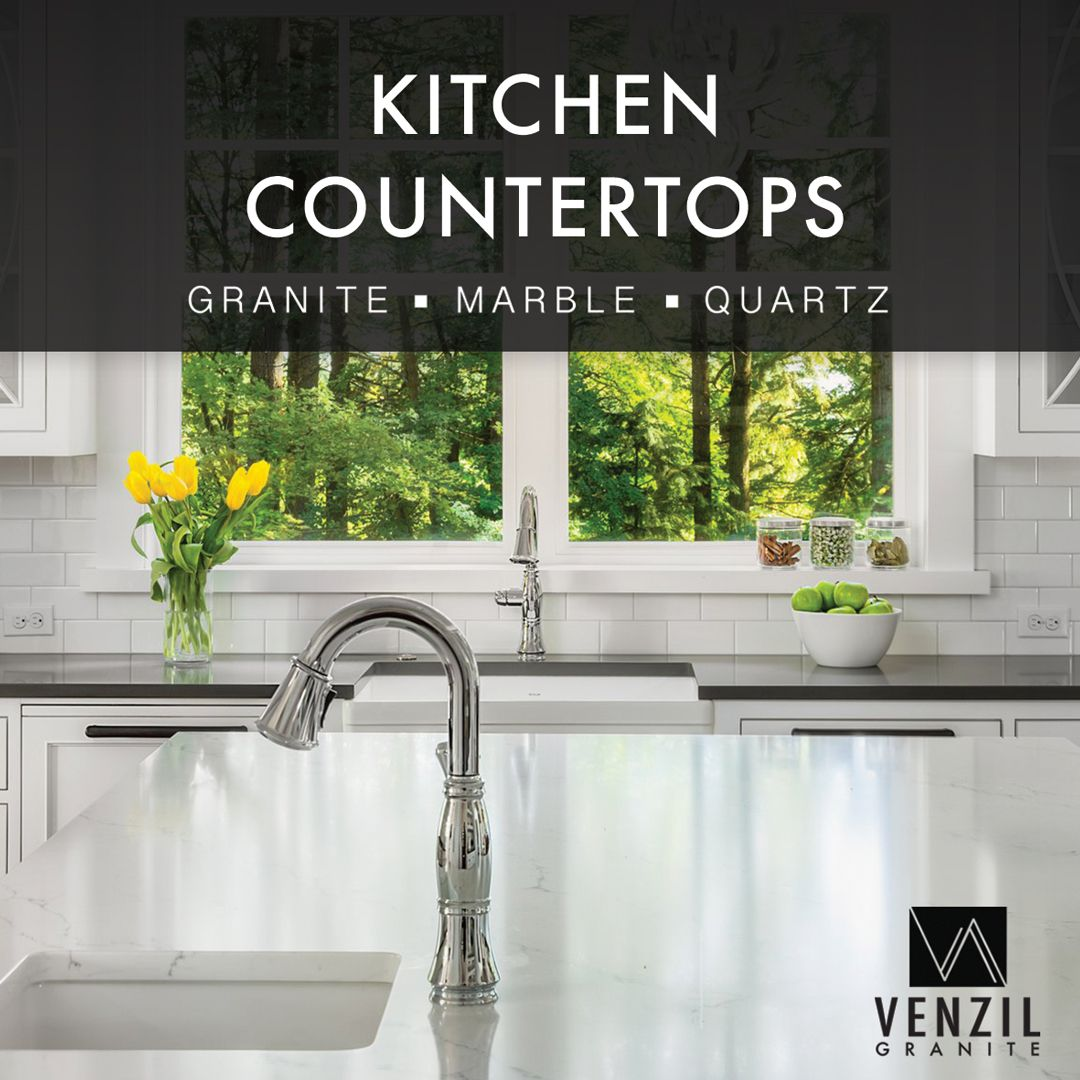 We Fabricate And Install Kitchen Countertops And Cabinets With A High Level Of Professionalism Con Granite Countertops Kitchen Kitchen Countertops Countertops