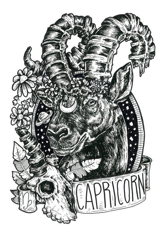 Pin De Bruto En Capricorn Arte Capricornio Tatuajes Capricornio Simbolo Piscis