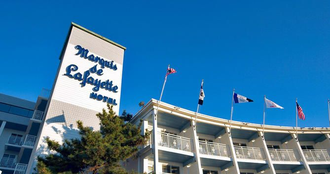 Located On Cape May The Marquis De Lafayette Hotel Is Opposite Beach At Decatur Street And Ping Washington Mall 4 Minutes Walk Away