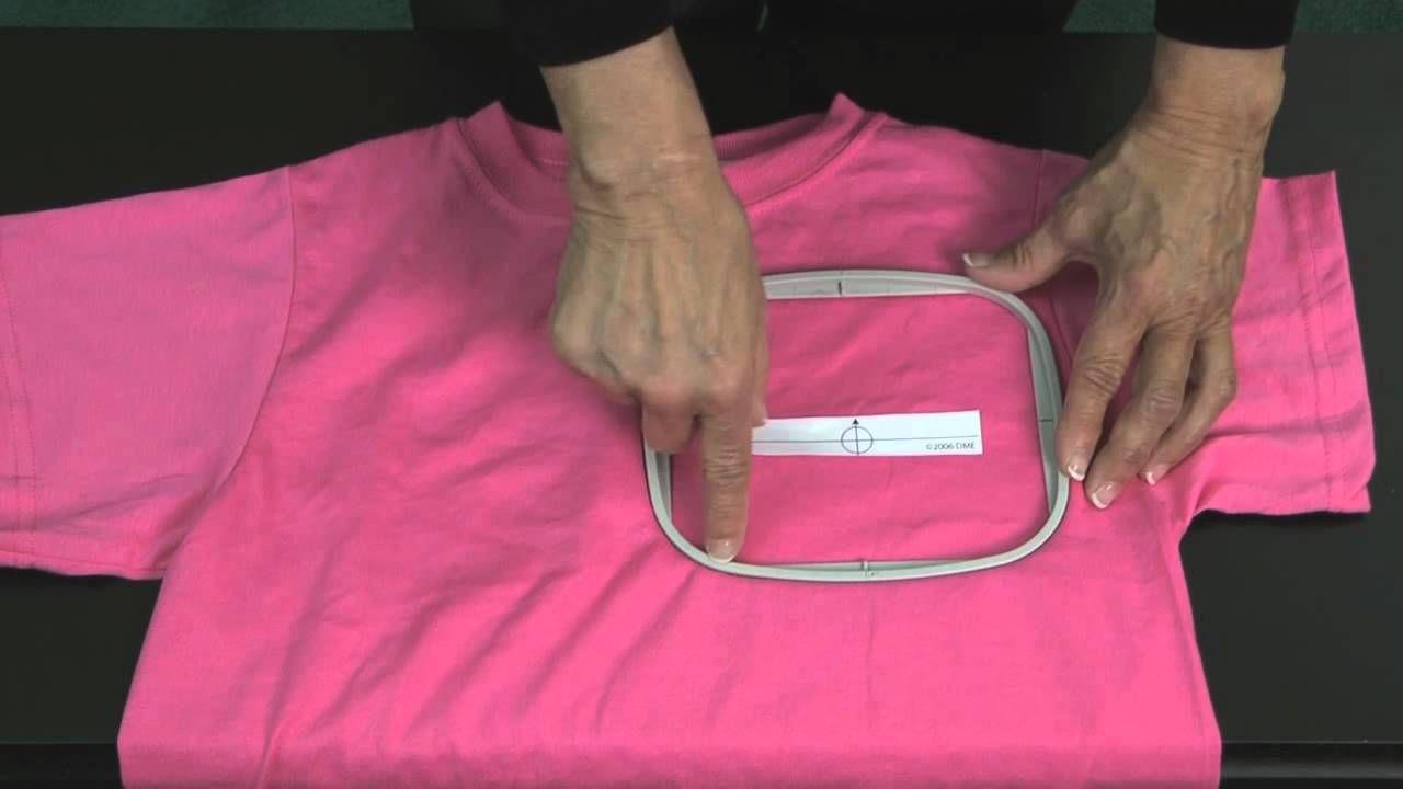 hooping T Shirt Machine embroidery tutorials, Machine