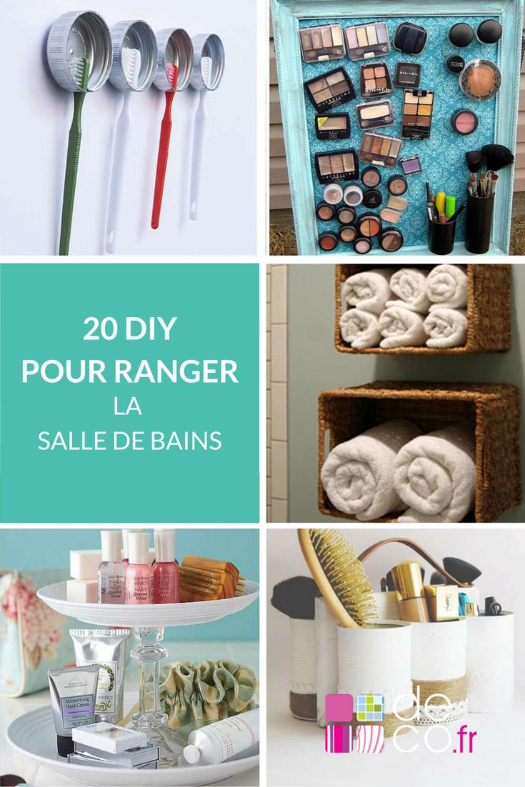 20 diy pour ranger votre salle de bains diy do it. Black Bedroom Furniture Sets. Home Design Ideas