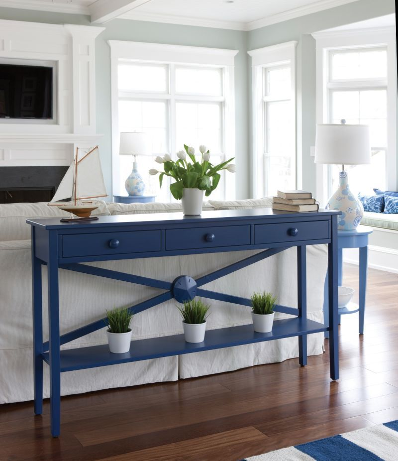 Nice Touch Of Blue In This Room I Would Have Put A Large Sailboard