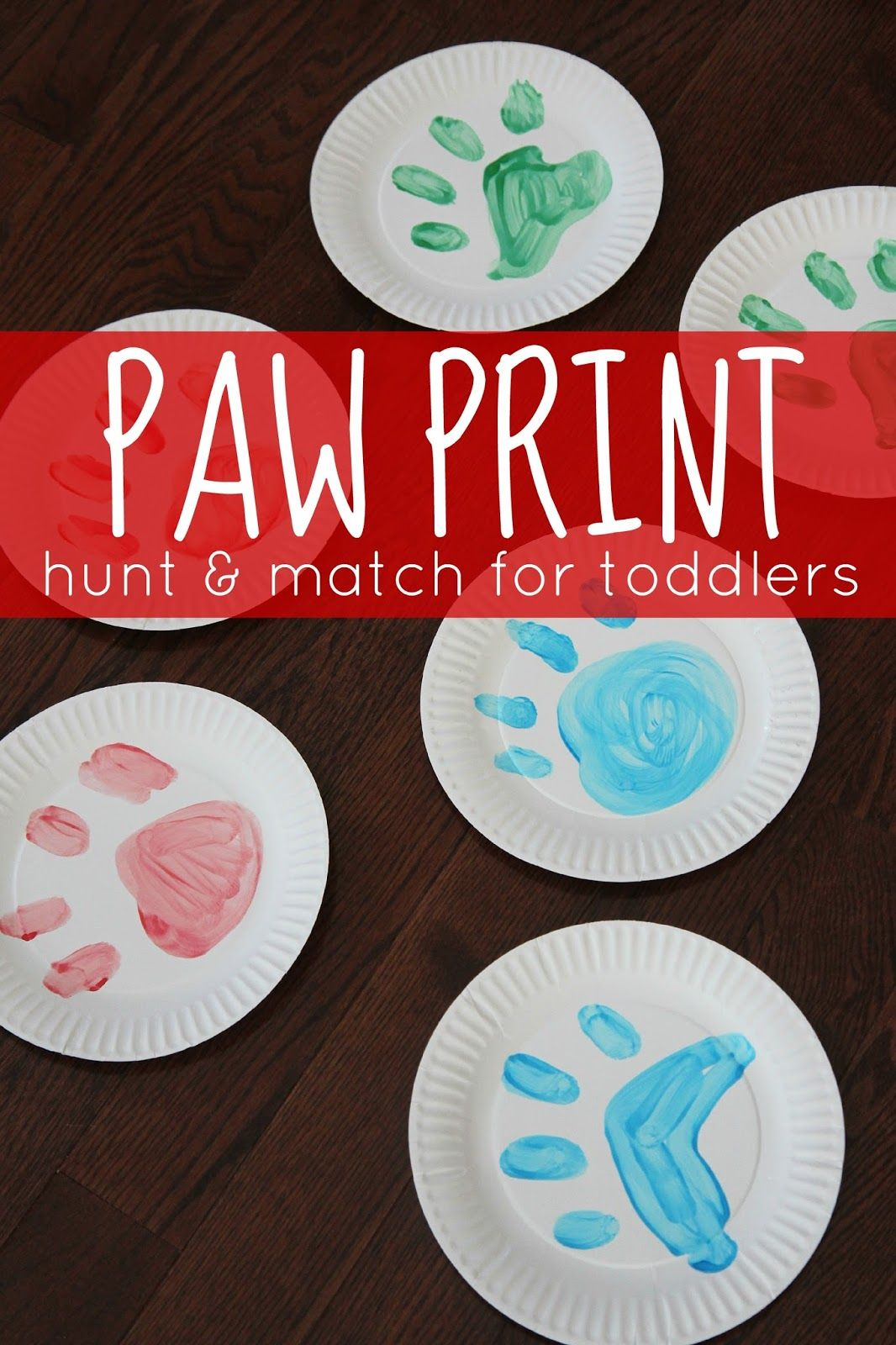 Paw Print Hunt Amp Match Game For Toddlers