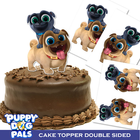 Puppy Dog Pals Cake Topper Double Sided Printable Centerpiece 9 7 5 Inches Tall