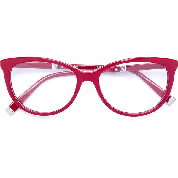 Max Mara Round Frame Glasses 19 600 Mkd Liked On Polyvore Featuring Accessories Eyewear Eyeglasses Red Red Round Glasses Frames Glasses Red Eyeglasses
