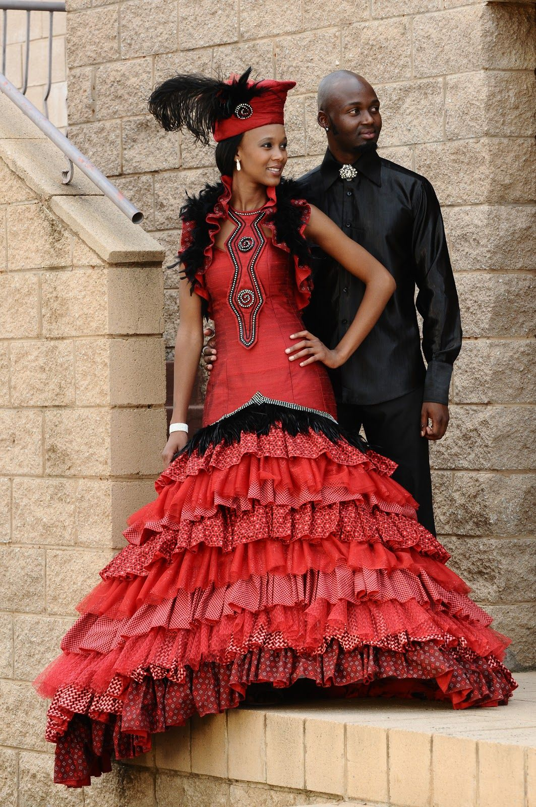 Tswana traditional dress designs 2017 styles 7 - See More About Brides Veils And South African Weddings