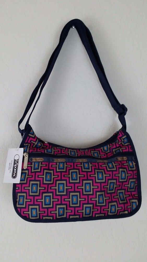 NWT LESPORTSAC CLASSIC HOBO Pink Blue No Pouch Elevate Tote Bag Purse MSRP: $72  #LeSportSac #TotesShoppers #ebay #LeSportSac #TotesShoppers