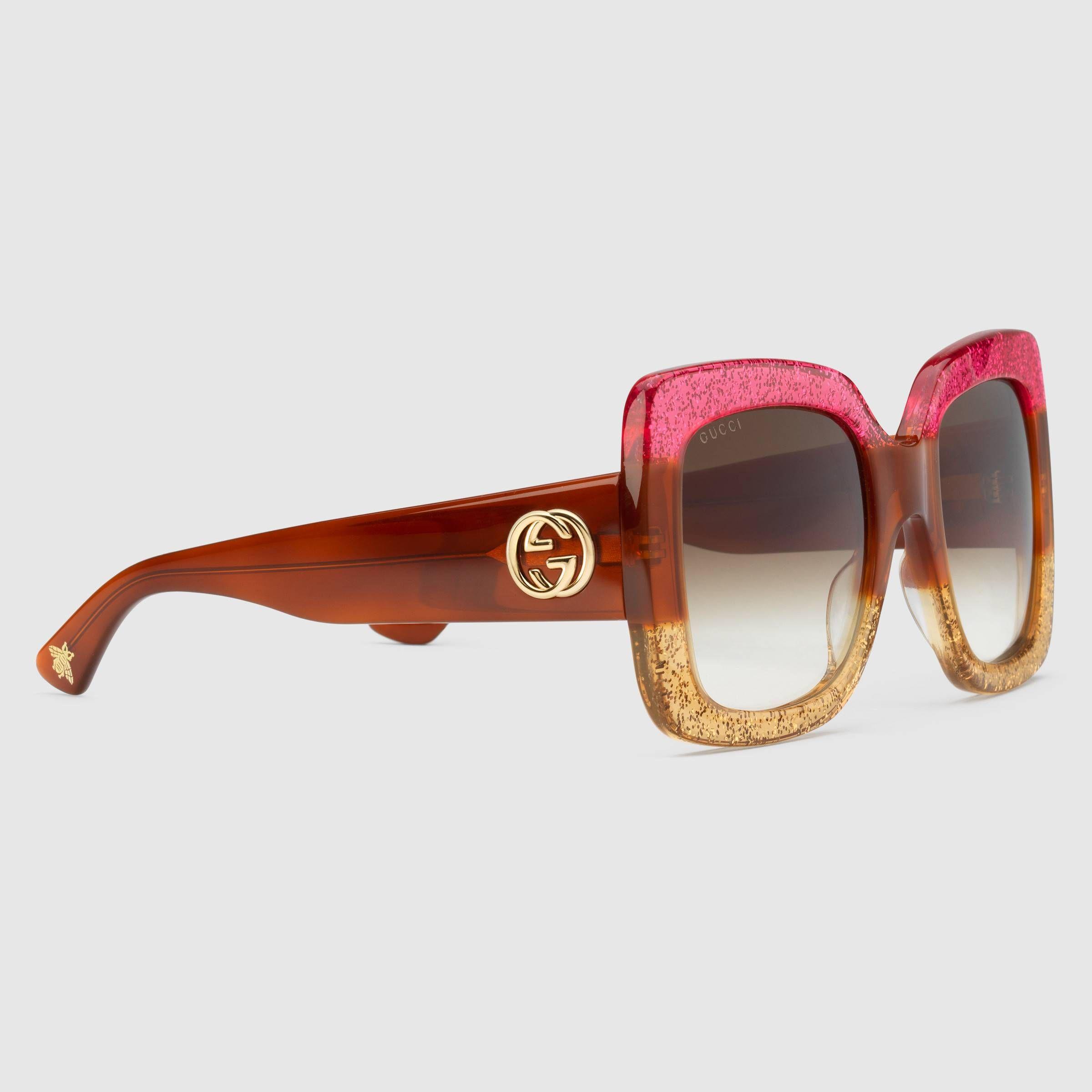 7ce207a420 Square-frame acetate sunglasses - Gucci Women s Square   Rectangle  461705J07405670