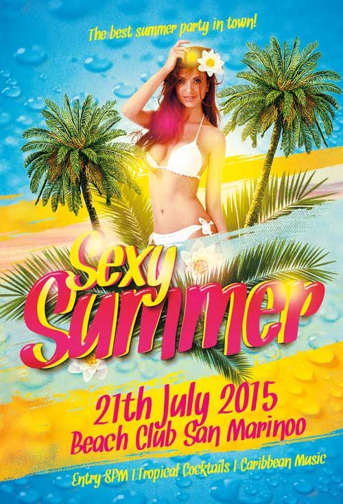 Sexy Summer Party Free Flyer Template - http\/\/freepsdflyer - summer flyer template